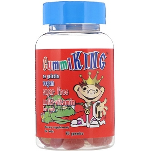 GummiKing, Multi-Vitamin for Kids, Sugar-Free , 60 Gummies